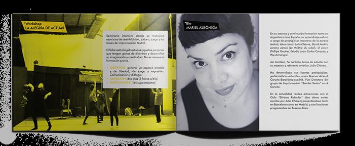 Página de presentación de la actiz